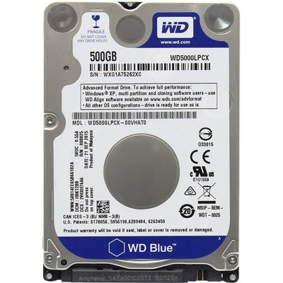Жесткий диск 500GB Western Digital Scorpio Blue WD5000LPCX