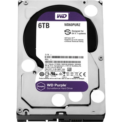 Жесткий диск 6Tb Western Digital Purple WD60PURZ