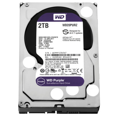 Жесткий диск 2TB Western Digital Caviar Purple WD20PURZ