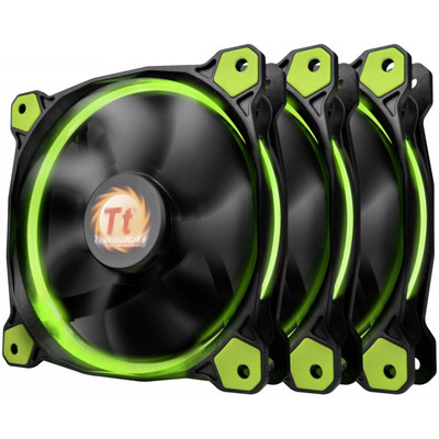 Комплект кулеров для корпуса Thermaltake Riing 12 LED Radiator Fan Green 3 Pack ( CL-F055-PL12GR-A)