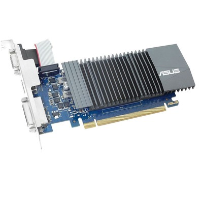 Видеокарта ASUS GeForce GT710 SILENT Low Profile (GK208/28nm) (954/1252) GDDR5 1024MB 32-bit (GT710-SL-1GD5-BRK)