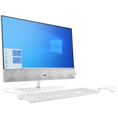 Моноблок HP Pavilion 24-k0013ur (Intel Core i3-10300T 3000Mhz/1920x1080/4GB/256GB SSD/Intel UHD Graphics/Windows 10 Home/White)