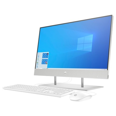 Моноблок HP 27-dp0017ur (AMD Ryzen 3 4300U 2700Mhz/1920x1080/4GB/256GB SSD/AMD Radeon Graphics/Windows 10 Home/White)